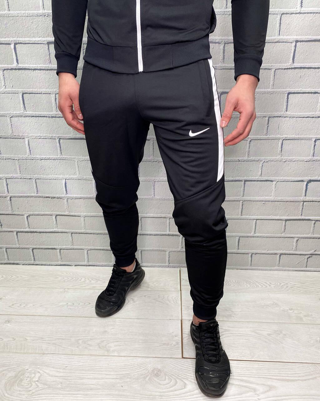 Штаны спортивные Nike Черный Штаны для мужчин Классические Стильные для бега и на каждый день для мужчин