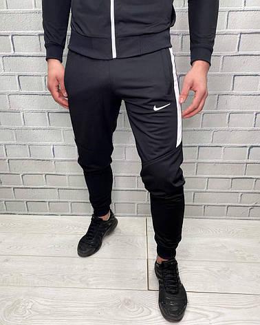 Штаны спортивные Nike Черный Штаны для мужчин Классические Стильные для бега и на каждый день для мужчин, фото 2
