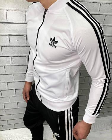 Штаны спортивные Adidas Белый Штаны на манжете и резинки Мужская спортивная одежда XL, фото 2
