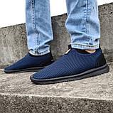 Кросівки літні чоловічі синього кольору мокасини (ПР-3902с), фото 2