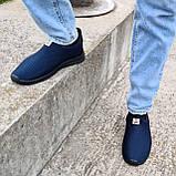 Кросівки літні чоловічі синього кольору мокасини (ПР-3902с), фото 3