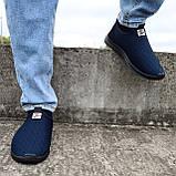 Кроссовки летние мужские синего цвета мокасины (ПР-3902с), фото 4