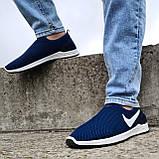 Кросівки чоловічі літні сіточка сині (Бн-15сн), фото 2