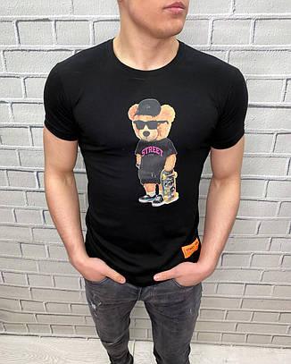 Чоловіча футболка з малюнком ведмедя Турецький трикотаж Ідеальна посадка, фото 2