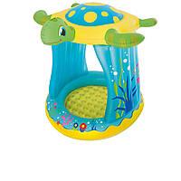 Детский надувной бассейн Bestway 52219 «Черепаха» 109 х 96 х 104 см, с навесом