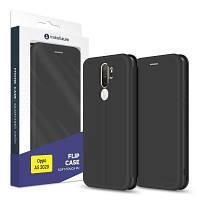 Чехол для моб. телефона MakeFuture Oppo A5 2020 Flip (Soft-Touch PU) Black (MCP-OPA520BK)