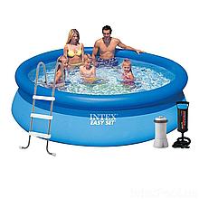 Надувной бассейн Intex 28120 - 5, 305 х 76 см (2 006 л/ч, подстилка, тент, насос, лестница)