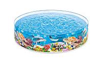 Детский каркасный бассейн Intex «Океанский риф», объем 2040 л , Каркасный бассейн для всей семьи