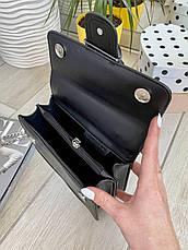 Женский клатч на цепочке Пинко черный КП45, фото 3
