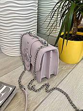 Жіночий клатч на ланцюжку Пінко бузок КП47, фото 2