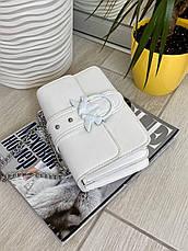 Жіночий клатч на ланцюжку Пінко білий КП48, фото 3