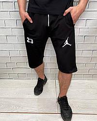 Мужские шорты спортивные Nike Черные Бриджи трикотажные для мужчин Джордан Найк Идеальная посадка
