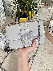 Жіночий клатч на ланцюжку Пінко сірий КП50, фото 2
