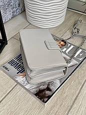 Женский клатч на цепочке Пинко серый КП50, фото 2