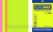 Набор цветной бумаги NEON, EUROMAX, 4 цв., 20 л., А4, 80 г/м²