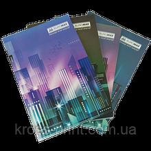 Тетрадь канцелярская, JOBMAX, А4, 96 л., клетка, офсет, картонная обложка, ассорти