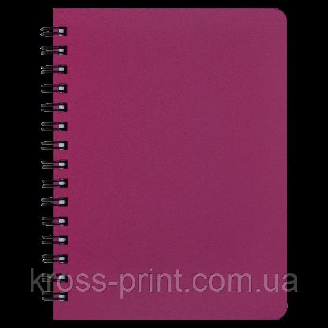 Тетрадь для записей OFFICE, А6, 96 л., клетка, пластиковая обложка, красная