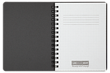Тетрадь для записей OFFICE, А6, 96 л., клетка, пластиковая обложка, красная, фото 2