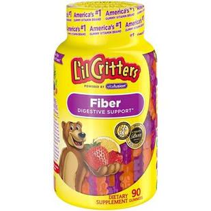 L'il Critters Fiber Gummy Bears Желейные жевательные конфеты с клетчаткой для борьбы с запорами  90 шт