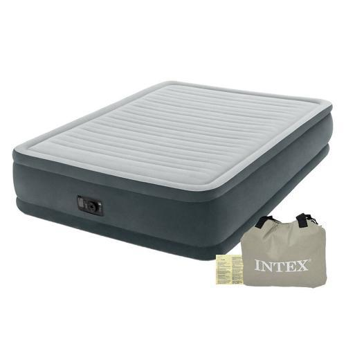 Велюровая кровать Intex 64126 с встроенным электронасосом 220 В