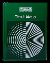 Книга канцелярская TIME IS MONEY, А4, 96 л., клетка, офсет, твердая ламинированная обложка, зеленая
