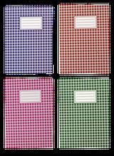 Тетрадь канцелярская, А4, 48 л., клетка, офсет, картонная обложка, ассорти