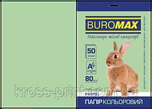 Бумага цветная PASTEL, св.-зеленая, 50 л., А4, 80 г/м²