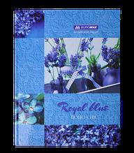 Книга канцелярская BOHO CHIC, А4, 96 л., клетка, офсет, твердая ламинированная обложка, синяя