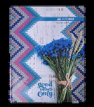 Книга канцелярская ROMANTIC, А4, 96 л., клетка, офсет, твердая ламинированная обложка, синяя