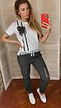 Спортивний костюм жіночий з брюками *Печатка*,(Туреччина); розм 42,44,46,48,50 норма,колір хакі., фото 3