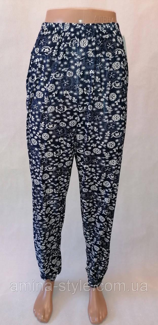 """Літні тонкі брюки галіфе. Султанки жіночі """"Залото"""". Батал 50-58 розмір Арт.(701/4)"""
