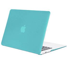 Чохол-накладка Matte Shell для Apple MacBook Air 13 (2018) (A1932) Блакитний / Light Blue