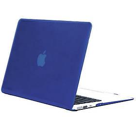 Чохол-накладка Matte Shell для Apple MacBook Air 13 (2018) (A1932) Синій / Peony blue