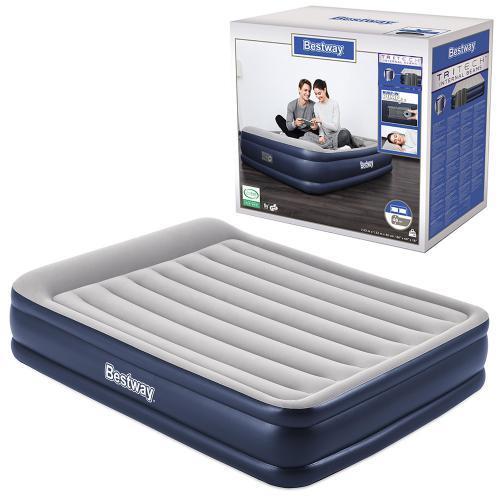Велюрова ліжко Bestway 67630 з вбудованим електронасосом