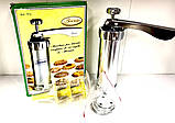 Кондитерский шприц-пресс Biscuits с 14 насадками для изготовления печенья, фото 3
