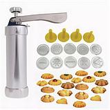 Кондитерский шприц-пресс Biscuits с 14 насадками для изготовления печенья, фото 4