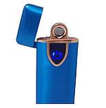 Спіральна сенсорна електрична USB запальничка Lighter Синя, фото 2