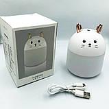 USB увлажнитель воздуха детский Humidifiers Rabbit / Ночник кролик, фото 5