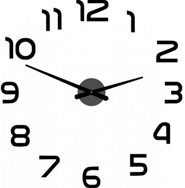 Настінні годинники 3D DIY Clock годинник із цифрами зроби сам самоклеючі