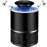Лампа пастка для комарів знищувач комах 5 Вт USB Mosquito Killer Lamp чорна, фото 2