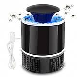 Лампа пастка для комарів знищувач комах 5 Вт USB Mosquito Killer Lamp чорна, фото 3
