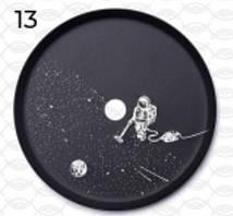 Блюдце для кальяну Alpha Hookah (альфа хука) з малюнком Космонавт на місяці