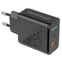 Зарядний пристрій Grand-X Fast Charge 5-в-1 QC 3.0, AFC, SCP,FCP, VOOC, 1 USB 22.5 W (CH-850), фото 1