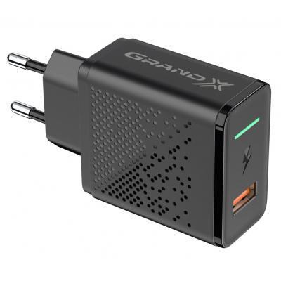 Зарядний пристрій Grand-X Fast Charge 5-в-1 QC 3.0, AFC, SCP,FCP, VOOC, 1 USB 22.5 W (CH-850)