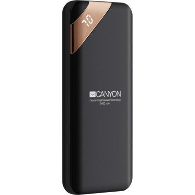 Батарея универсальная Canyon PB-54 5000mAh, Input 5V/2A, Output 5V/2.1A, Black (CNE-CPBP5B)