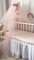 Балдахин в кроватку пышный фатиновый балдахин на детскую кроватку/ пишний фатіновий балдахін на дитяче ліжечко