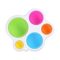Простая силиконовая двухсторонняя детская сенсорная игрушка Pop It для раннего развития ребенка