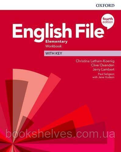 English File 4th Edition Elementary WorkBook + key