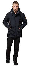 Парка зимняя с карманами мужская цвет темно-серый-коричневый модель 1533 (ОСТАЛСЯ ТОЛЬКО 54(XXL))