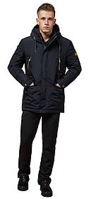 Парку зимова з кишенями чоловіча колір темно-сірий, коричневий модель 1533 (ЗАЛИШИВСЯ ТІЛЬКИ 54(XXL))